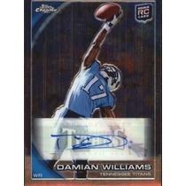 Damian Williams Tarj C Autografo Titans Topps Chrome 2010rnt
