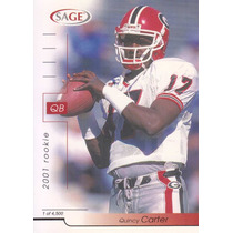 2001 Sage Rookie Quincy Carter Qb Cowboys