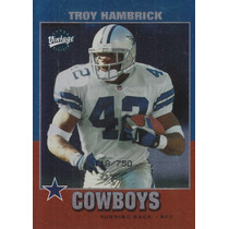 2002 Upper Deck Vintage Rookie Troy Hambrick Rb Cowboys