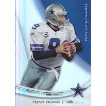 2013 Topps Platinum Tony Romo Qb Cowboys