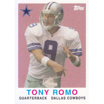 2008 Topps Turn Back The Clock Tony Romo Qb Cowboys