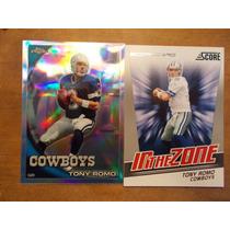 Tony Romo 2 Cards , Refractor ,scorecard Cowboys $7.50dls