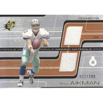 2001 Spx Wm 2x Jersey Nfl Ncaa Troy Aikman 31/300 Cowboys