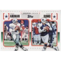 2010 Topps Gridiron Lineage Troy Aikman Tony Romo Cowboys Qb