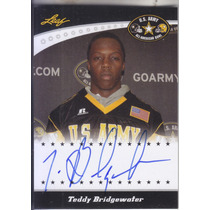 2011 Leaf U.s Army Bowl Rookie Autografo Teddy Bridgewater