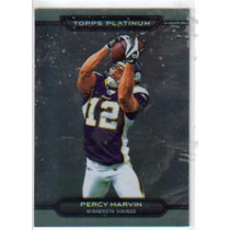 2010 Topps Platinum #140 Percy Harvin Vikingos De Minnesota