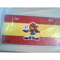 Placas Mascota Mundial Mexico 70 Aguila Pico Bandera España