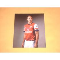 Postal Autografiada Olivier Giroud Arsenal De Inglaterra