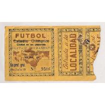 América Atlante Boleto Futbol Estadio Olímpico Años 50s