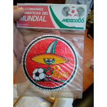 2 Calcomanias Futbol México 86 De Mascota Pique Empacadas