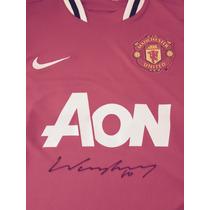Jersey Manchester United Wayne Rooney Autografo Certificado