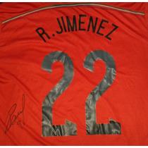 Jersey Autografiado Raul Jimenez Seleccion Mexicana Benfica