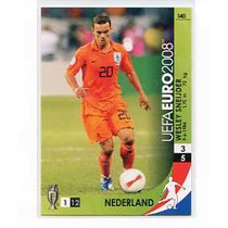Panini Uefa Euro 2008 Wesley Sneijder #140 Holanda