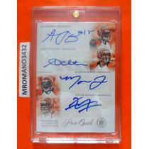 Tarjeta 4 Autografos Cincinnati Bengals 14/20 Andy Dalton