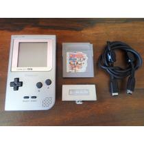 Game Boy Pocket + Tapa De Pilas + Juego + Cable Link