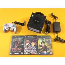 Consola Gamecube Negro Y Tres Juegos