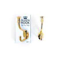 Hook - Queen Style Royal Brass Escudo Ganchos Grande Para