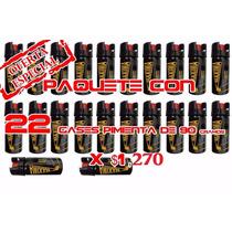 Gas Pimienta Lacrimogeno 90 Grs Paquete De 22 Piezas Defensa