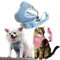 Arnes Para Gato Adjustable Mesh Vest Harness With Leash For