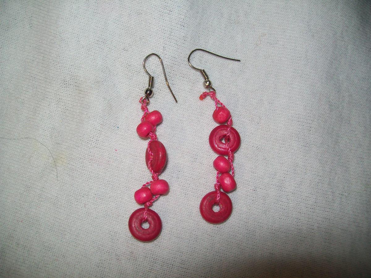 ce2dc667a9e2 gcg aretes de coco ruedas y bolitas color rosa mexicano bfnAretes De Coco