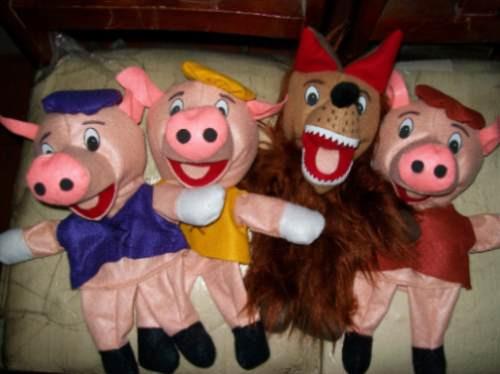 Gcg Coleccion De 4 Titeres Los Tres Cochinitos Y El Lobo ...