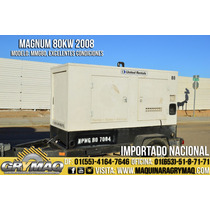 Generador Electrico 80kw Magnum Mmg80 2008 Motor Diesel