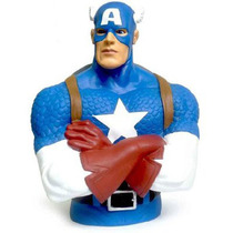 Captain America Banco Busto Marvel Comics Plástico