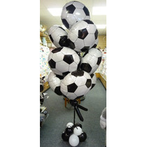 Globo Metalico Balon Football, Lote De 10 Piezas
