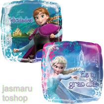 6 Globo Metalico 18 Pulg. D Elsa Y Anna Frozen En Castillo