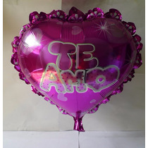 Globos Metálicos Corazón 23in Fiestas Regalos Eventos 10pzas