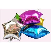 10 Globos Metalicos En Forma De Estrella 5 Chicos 5 Medianos