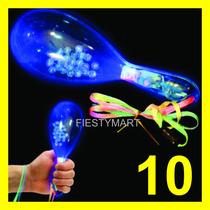 10 Maracas Con Luz Led Xv Evento Dj Boda Fiesta Batucada