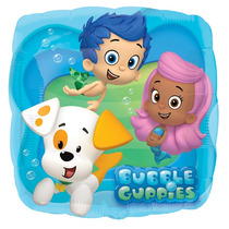 Globo Metálico Bubble Guppies 18 Pulgadas. Decora Tu Fiesta.