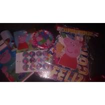 Kits Pepa Pig Para Fiesa Infantil (vasos, Platos Y Mas)