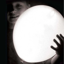 10 Globos Con Luz Led Blanca Para Fiestas -divertidos