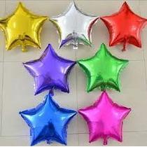 10 Globos Metalicos Corazon Estrella 9 Pulgadas