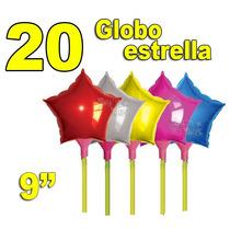 20 Globo Metálico Estrella 25cms. Decoración Centros De Mesa
