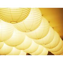 Lampara China Globo Papel Blancas Colores 10 Piezas Fiesta