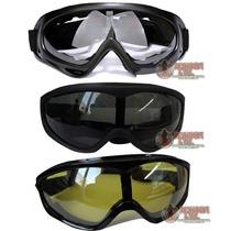 Googles Tacticos Airsoft Gotcha Motociclismo Gafas Lentes