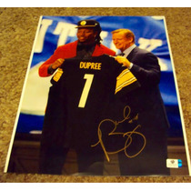 Alvin Bud Dupree Firma Certificada Gai 35 X 28 Steelers Nfl
