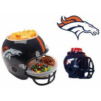 Casco Nfl Broncos Denver Combo Botanero Cervecero