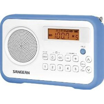Sangean Pr-d18bu Am / Fm / Radio Reloj Digital Portátil Con