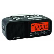 Midland Wr11 Radio Reloj Am/fm Con Avisos Y Alertas Noaa