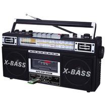 Nueva Radio Grabadora Boombox Estilo Retro Vintage De Los 80