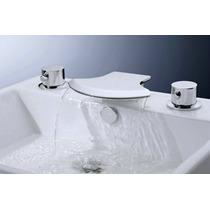 Llave Grifo De Cascada Para Baño De 2 Llaves Diseño Moderno