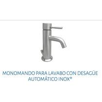 Monomando Para Lavabo Con Desagüe Automático Urrea 9418 Inox