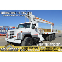 Grua Titan 13 Tons Camion International 1988 Gruas Titan