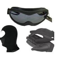 Combo Moto Pasamontaña Antifaz Guantes De Neopreno Goggles