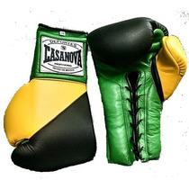 Guantes De Box Profesional Casanova Agujeta 8 A 18 Oz. Piel.