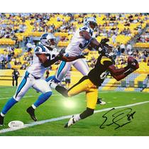 Foto Autografiada Y Certificada Acereros Steelers Sanders 88